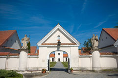 Monastery entrance. Entrance to Camaldolese Monastery in Wigry, Poland Stock Photography