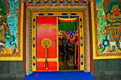 Monastery Entrance. A background of the colorful entrance of a monastery in Coorg, India Stock Photography