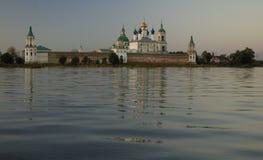 Monastery at evening. Spaso-Yakovlevskiy monastery at evening. Rostov Velikiy, Russia Stock Photography