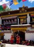 Monastery festival. Festival at the Sani monastery in Zanskar stock image