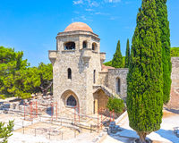 Monastery of Filerimos Royalty Free Stock Images