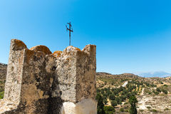Monastery (friary) in Messara Valley at Crete island in Greece. Stock Images