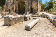 Monastery (friary) in Messara Valley at Crete island in Greece. Royalty Free Stock Image