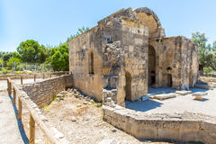 Monastery (friary) in Messara Valley at Crete island in Greece. Stock Photography