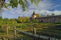Monastery garden Royalty Free Stock Image