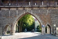 Monastery Gate - Old Town Tallinn royalty free stock images