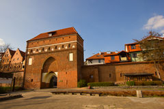 Monastery Gate, Torun, Poland. Monastery  tower  gate and city walls, Torun, Poland Stock Photos