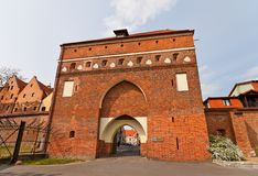 Monastery Gate (XIV c.) of Torun town, Poland Stock Photography