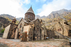 Monastery of Geghard in Armenia. Monastery of Geghard is an Orthodox Christian monastery located in Kotayk Province of Armenia stock images