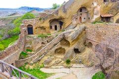 Monastery in Georgia David Gareji. David Gareja or Gardji cave monastery complex in Georgia, Kakheti region Stock Image