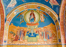 The Monastery Ghighiu, painting detail Royalty Free Stock Photo