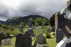 Monastery Glendalough in Ireland Royalty Free Stock Photos