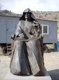 Monastery Goshavank, Armenia, sculpture of Mkhithar Gosh stock photography