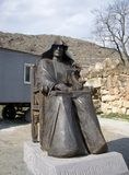 Monastery Goshavank, Armenia, sculpture of Mkhitha stock image