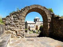 Monastery Gradac. Is endowed endowment of Queen Jelena, which was built from 1277 till 1282 Royalty Free Stock Photography