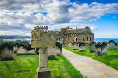 Monastery graveyard in Whitby, North Yorkshire Stock Images