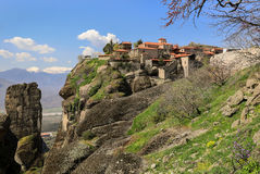 The Monastery of Great Meteoron in Greece. Stock Photos