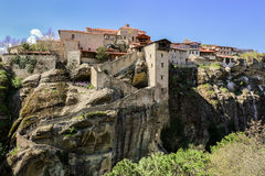 The Monastery of Great Meteoron in Greece. Royalty Free Stock Photography