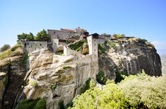 The Monastery of Great Meteoron is the largest monastery at Meteora Stock Photos