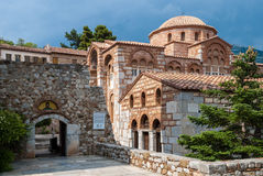 Monastery in Greece. Part of the historic, listed by UNESCO,  Hosios Loukas Monastery in Greece Royalty Free Stock Photo