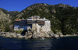Monastery Grigoriou. A photo of Monastery Grigoriou, Mount Athos, Greece royalty free stock photo