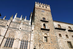 Monastery in Guadalupe ,Spain Stock Image