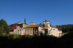 Monastery Hilandar, Holy Mount Athos Stock Images