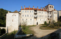 Monastery Hilandar, Holy Mount Athos Royalty Free Stock Photos