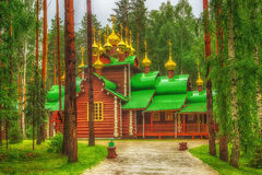 Monastery  Holy Royal Martyrs tract Ganina Yama Ekaterinburg Rus Royalty Free Stock Photos