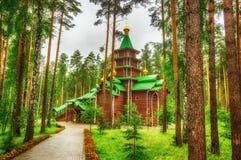 Monastery  Holy Royal Martyrs tract Ganina Yama Ekaterinburg Rus Stock Photography