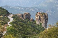 Monastery of the Holy Trinity Agia Triada, Meteora, Greece Royalty Free Stock Photography
