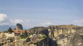 Monastery Meteora Greece stock photo