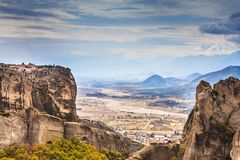 Monastery of the Holy Trinity i in Meteora, Greece royalty free stock image