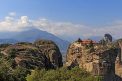 Monastery of the Holy Trinity in Meteora Stock Image