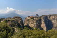 Monastery of the Holy Trinity in Meteora Royalty Free Stock Photos