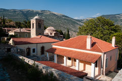 Monastery of Hosios Loukas. Belltower and dome of Monastery of Hosios Loukas, Greece Royalty Free Stock Images