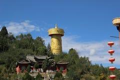 A monastery and houses around Shangri-La, Amdo Tibet stock photography