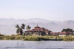 Monastery at Inle lake, Myanmar Royalty Free Stock Image