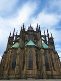St. Vitus Cathedral inside Prague Castle Royalty Free Stock Photos