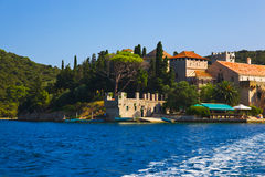 Monastery at island Mljet in Croatia Stock Photo