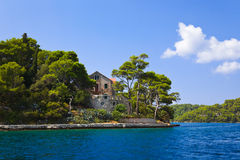 Monastery at island Mljet in Croatia Stock Photos