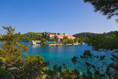 Monastery at island Mljet in Croatia Royalty Free Stock Photography