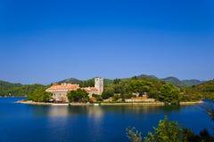 Monastery at island Mljet in Croatia Royalty Free Stock Photos