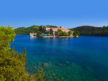 Monastery at island Mljet in Croatia Stock Photography