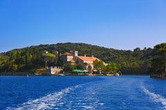 Monastery at island Mljet in Croatia Stock Image