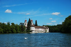 Monastery Island Rheinau at river Rhine Royalty Free Stock Photo