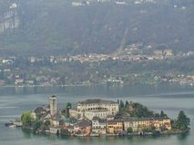 a monastery on an island in swiss royalty free stock images