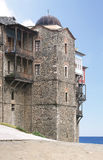 Monastery of the Iversky Mother of God on Mount Athos Stock Photos