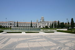 Monastery of Jeronimos. Partial view Royalty Free Stock Photo