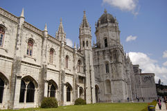 Monastery of jeronimos. Outside and frontal entrance monastery of jeros in belem, lisbon Royalty Free Stock Image